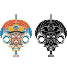 Aztec stencil 2 vector image vector image