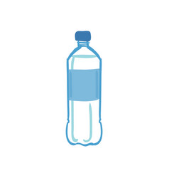 hand drawn water bottle isolated on white vector image