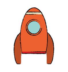 rocket spaceship travel icon vector image