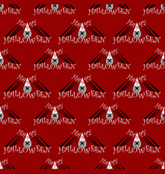 seamless pattern with a spider on halloween vector image