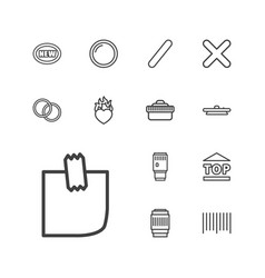 13 sticker icons vector