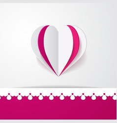 3d background with a heart vector