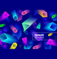 abstract background with multicolored shapes vector image
