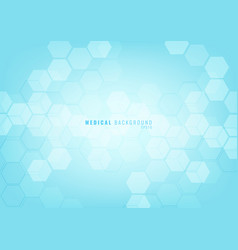 Abstract blue geometric hexagons shape pattern vector