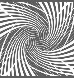 abstract geometric twirl halftone spiral vector image