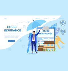 Abstract home insurance concept vector