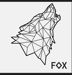 abstract polygonal geometric head a fox 03 vector image
