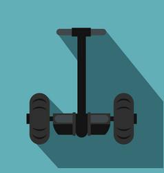 Alternative transport vehicle icon flat style vector