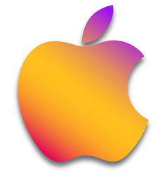 Apple logo colorful on white background vector