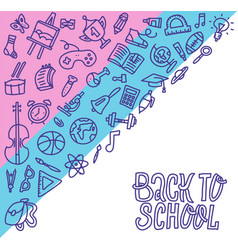 back to school concept outline design education vector image