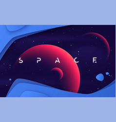 Background on theme outer space vector