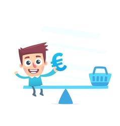 Balanced waste of money vector image