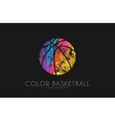 Basketball ball logo Basketball sport Ball logo vector image