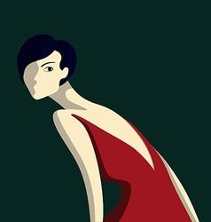 Beautiful elegance woman vector image
