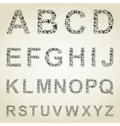 Bird the alphabet vector image