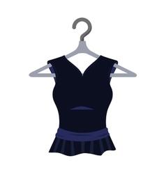 Black dress fashion clothing vector