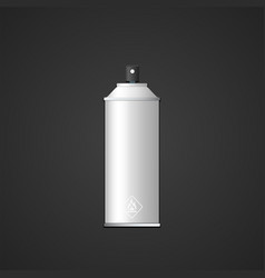 Blank spray can mockup vector