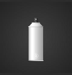 blank spray can mockup vector image