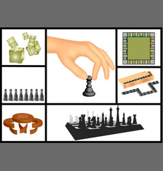 board games set vector image