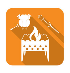 brazier zephyr and chicken icon vector image