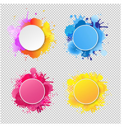 bright banner with colorful blobs transparent vector image