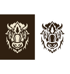 buffalo head sihouette vector image