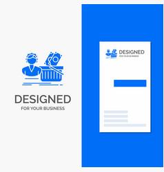 business logo for salary shopping basket shopping vector image