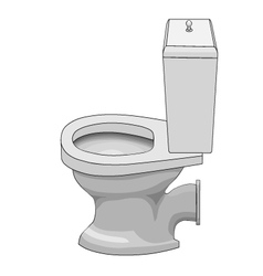 Ceramic toilet bowl vector