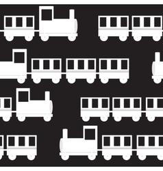 Children Train Seamless Pattern vector