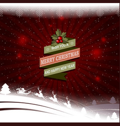 christmas pattern with a silhouette of santa claus vector image