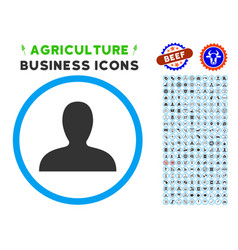 client rounded icon with set vector image