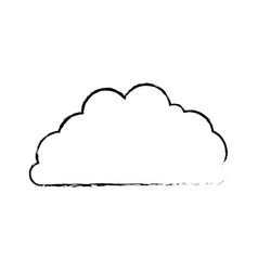 cloud fluffy blurred monochrome in white vector image