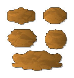 Collection various crumpled pieces paper vector