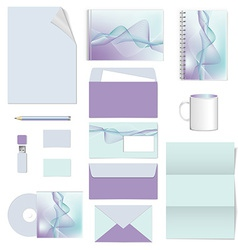 corporate identity stationery template design vector image