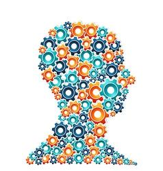 Creative thinking man concept vector image