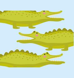 cute cocodrile wildlife animal vector image