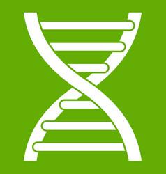 dna icon green vector image