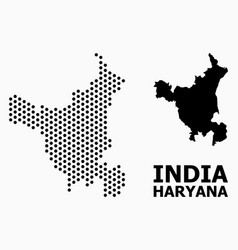 Dot mosaic map haryana state vector