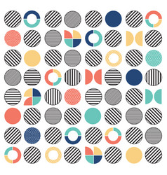 Geometric colorful mixed circle seamless pattern vector