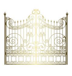 Golden vintage gate vector