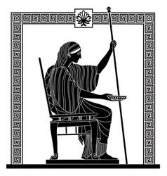greek drawing vector image