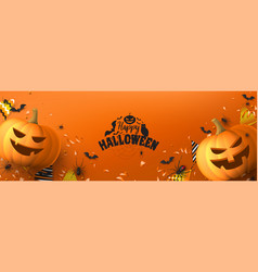 happy halloween greeting banner vector image