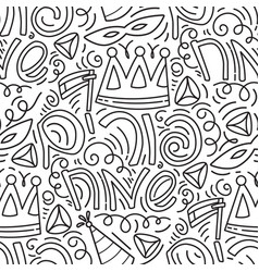 happy purim seamless pattern vector image