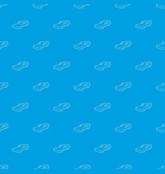 Hearse pattern seamless blue vector