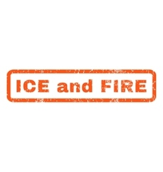 Ice and Fire Rubber Stamp vector