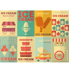 Ice cream postres vector
