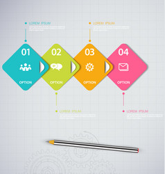 infographics design template with ico vector image