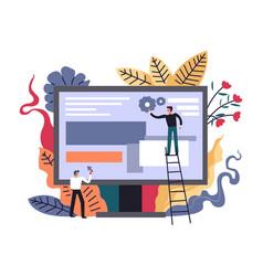 internet advancing technologies developers vector image