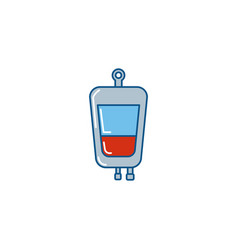 Isolated medical blood bag icon fill design vector