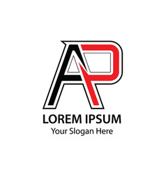 Letter ap logo design template elements vector